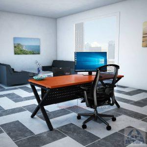 שולחן כתיבה מעוצב דגםEXTRAרגל שחורה כולל מיסתור מתכת