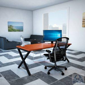 שולחן כתיבה מעוצב דגם EXTRA רגל שחורה ללא מיסתור
