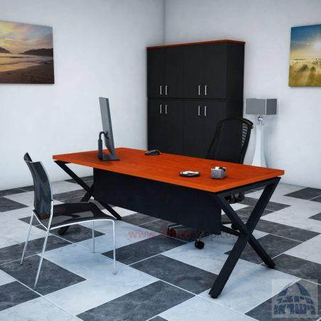 שולחן כתיבה יוקרתי דגםEXTRAרגל לבנה כולל מיסתור עץ