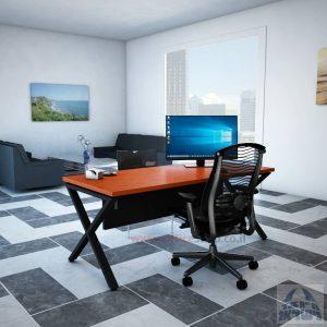 שולחן כתיבה יוקרתי דגםEXTRAרגל שחורה כולל מיסתור עץ