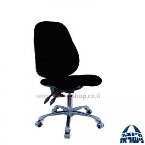 כסא מזכירה דגם גל Galya פרימיום כולל מושב ארגונומי ללא ידיות