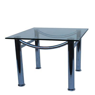 """לוטוס שולחן המתנה זכוכית 60X60 ס""""מ"""