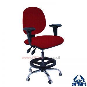 כסא שרטט מרופד דגם MORAN-בסיס ניקל חישוק שחור+ידיות מתכווננות