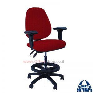 כסא שרטט מרופד דגם TOPAZ-בסיס שחור חישוק שחור+ידיות מתכווננות