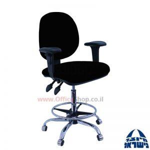 כסא שרטט מרופד דגם MORAN-בסיס ניקל חישוק ניקל+ידיות מתכווננות