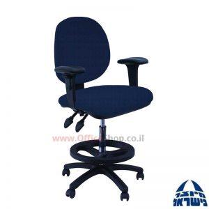 כסא שרטט מרופד דגם MORAN-בסיס שחור חישוק שחור+ידיות מתכווננות