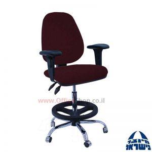כסא שרטט מרופד דגם TOPAZ-בסיס ניקל חישוק שחור+ידיות מתכווננות