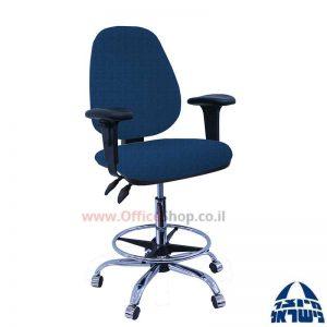 כסא שרטט מרופד TOPAZ בסיס+חישוק ניקל+ידיות מתכווננות