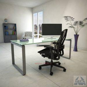 שולחן עבודה דגם Niro Glass