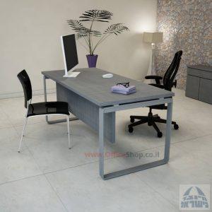 שולחן כתיבה יוקרתי דגם Niro רגל כסופה כולל מיסתור עץ
