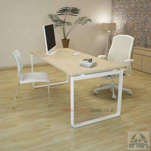 שולחן כתיבה יוקרתי דגם Niro רגל לבנה ללא מיסתור