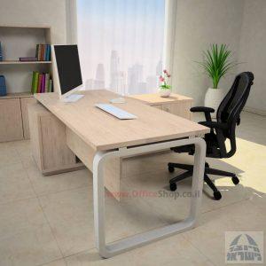 שולחן מנהלים פינתי דגם Ola רגל כסופה