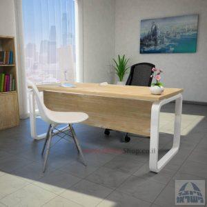 שולחן כתיבהיוקרתי Olaכולל מיסתורעץ עם רגל לבנה