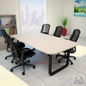 שולחן ישיבות מודרני דגם Ola רגל שחורה