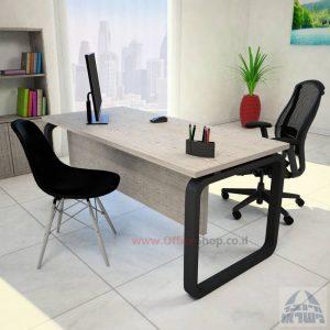 שולחן כתיבהיוקרתיOlaכולל מיסתורעץ עם רגל שחורה