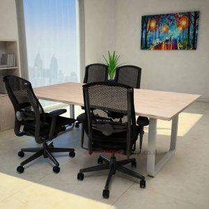 שולחן ישיבות מודרני דגם Ola רגל כסופה