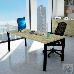 שולחן כתיבה יוקרתי דגם ROTEM רגל שחורה ללא מיסתור