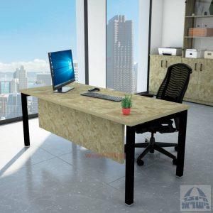 שולחן כתיבה יוקרתי דגם ROTEM רגל שחורה כולל מיסתור עץ