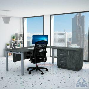 שולחן מזכירה יוקרתי Rotem - MD5 רגל כסופה - מיסתור עץ