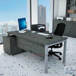 שולחן מנהלים פינתי Rotem רגל כסופה