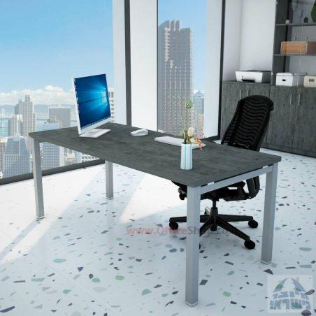 שולחן כתיבה יוקרתי דגם ROTEM רגל שחורה כולל מיסתור מתכת