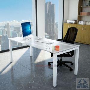 שולחןכתיבהדגםROTEMזכוכית מחוסמתאקסטרה קליר חלבית צרובהרגללבנה