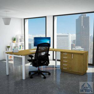 שולחן מזכירה יוקרתי Rotem - MD5 רגל לבנה - מיסתור מתכת