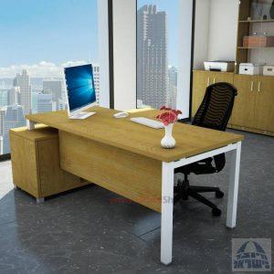 שולחן מנהלים פינתי Rotem רגל לבנה