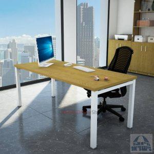 שולחן כתיבה יוקרתי דגם ROTEM רגל לבנה ללא מיסתור