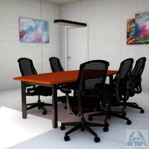 שולחן ישיבות יוקרתי דגם Sapir רגלשחורה