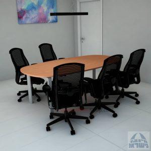 שולחן ישיבות יוקרתי דגם Sapir רגלכסופה