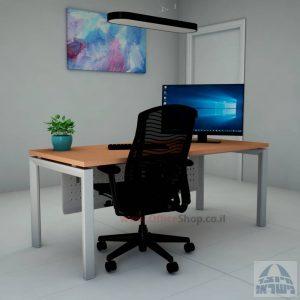 שולחן כתיבה יוקרתי  Sapir רגל כסופה כולל מיסתור מתכת