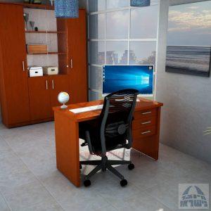 שולחןמשרדי מעוצב דגם שרתון כולל 3 מגירות לאחסון