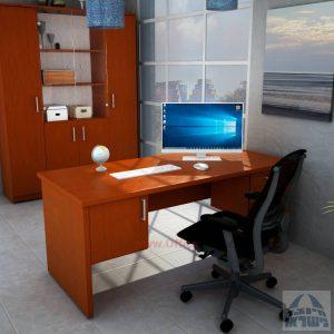 שולחן משרדי דגם Sheraton כפול כולל 3 מגירות ודלת