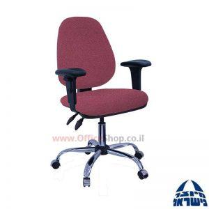 כסא מזכירה דגם Topaz פרימיום + ידיות מתכווננות