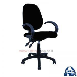 כסא מזכירה דגם Topaz + מושב ארגונומי כולל ידיות סהר
