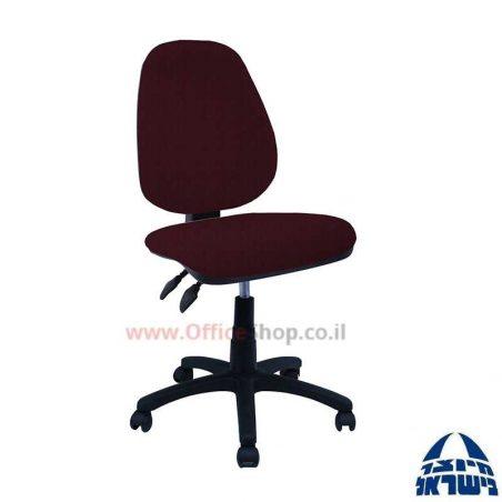 כסא מזכירה דגם Topaz + מושב ארגונומי ללא ידיות
