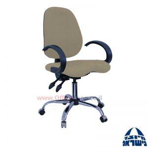 כסא מזכירה דגם Topaz פרימיום +מושב ארגונומי וידיות סהר