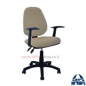 כסא מזכירה משרדי דגם Topaz כולל ידיות ארגונומיות