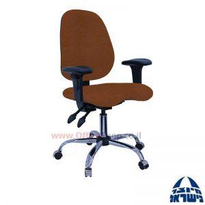 כסא מזכירה דגם Topaz פרימיום +מושב ארגונומי וידיות מתכווננות