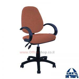 כסא מזכירה משרדי דגם Topaz כולל ידיות סהר