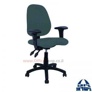 כסא מזכירה דגם Topaz + מושב ארגונומי כולל ידיות מתכווננות