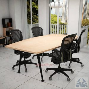 שולחן ישיבות מודרני דגם Keren רגל שחורה