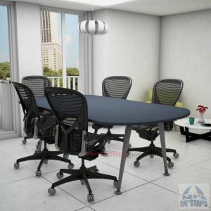 שולחן ישיבות מודרני דגם Keren רגל כסופה