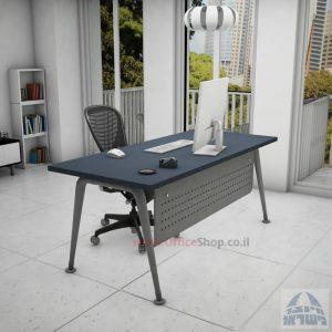 שולחן כתיבה מעוצב דגם Keren רגלכסופה כולל מיסתור מתכת