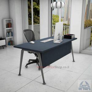 שולחן כתיבה מעוצב דגם Keren רגלכסופה כולל מיסתור עץ