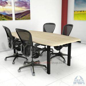 שולחן ישיבות מודרני דגם Moro רגל שחורה