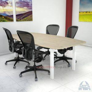 שולחן ישיבות מודרני דגם Moro רגל לבנה