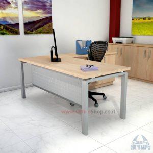 שולחן מזכירה יוקרתי דגם Moro – MD5 רגל כסופה ומיסתור מתכת