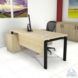שולחן מנהלים פינתי דגם Moro רגל שחורה